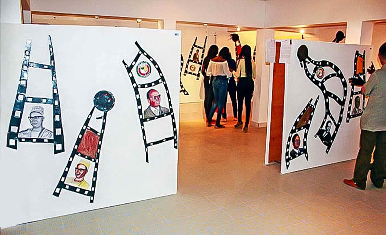 La galerie Yassine de Dakar